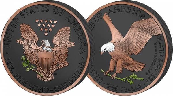 2 x 1 Unze USA American Eagle 2021 Golden Enigma Premium Edition