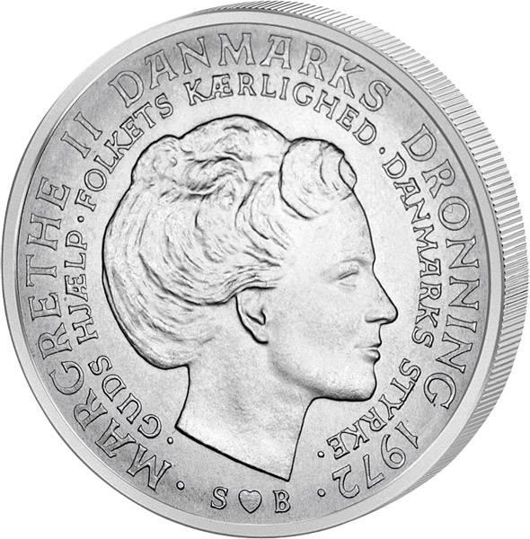 10 Kronen Dänemark Tod Frederiks IX 1972