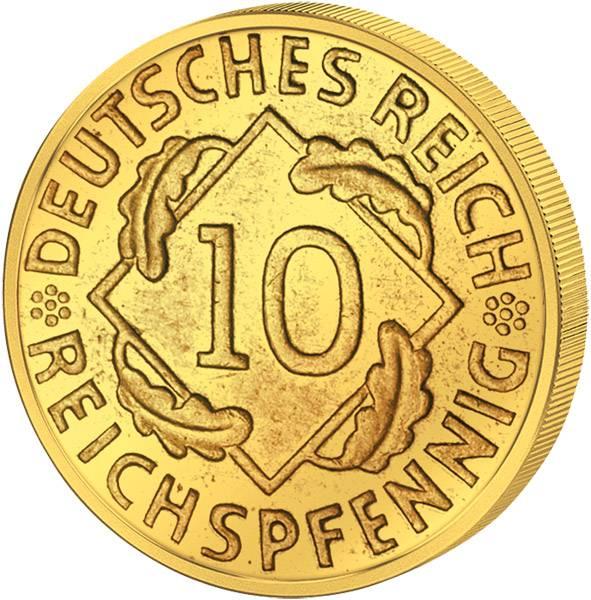 10 Pfennig Weimarer Republik Ähren 1924-1936 Sehr schön