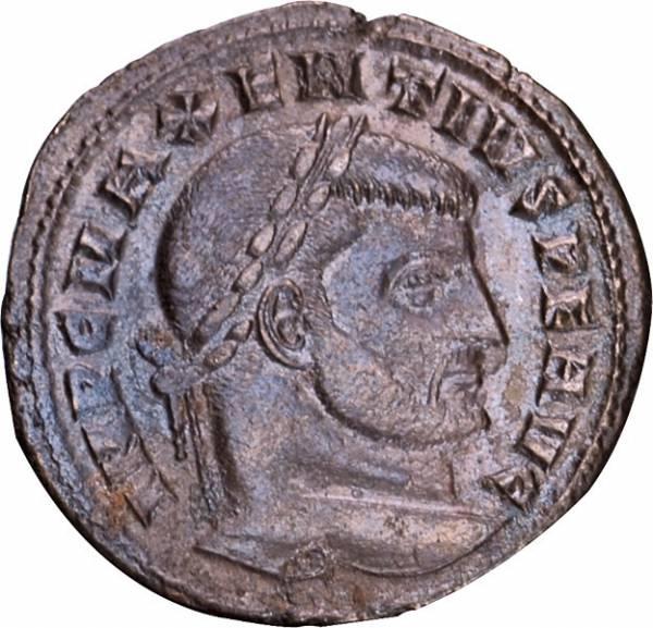 Follis Maxentius Romulus und Remus / Castor und Pollux