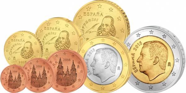 Euro-Kursmünzensatz Spanien 2015 prägefrisch