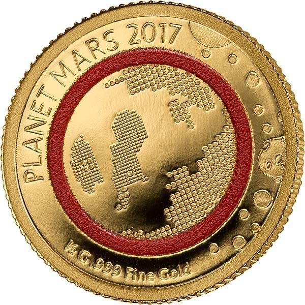 1.000 Francs Guinea Planet Mars 2017