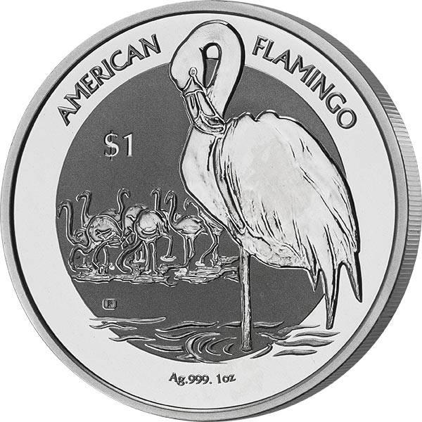 1 Unze Silber Jungferninseln Flamingo 2021