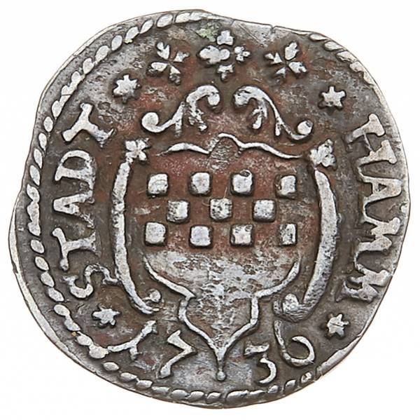 3 Pfennig Hamm Wappen 1687-1749