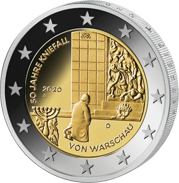 2 Euro BRD 50 Jahre Kniefall von Warschau 2020
