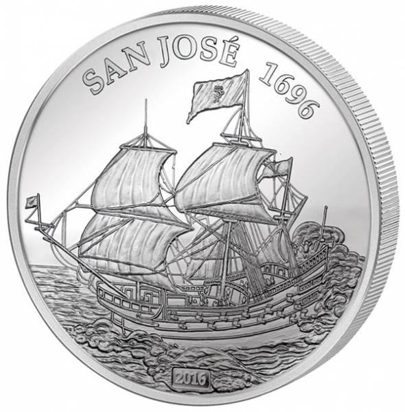 1.000 Francs Mali Schatzschiff San José 2016