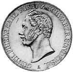 Doppeltaler Günther Friedrich Carl 1841, 1845, 1854 Vorzüglich