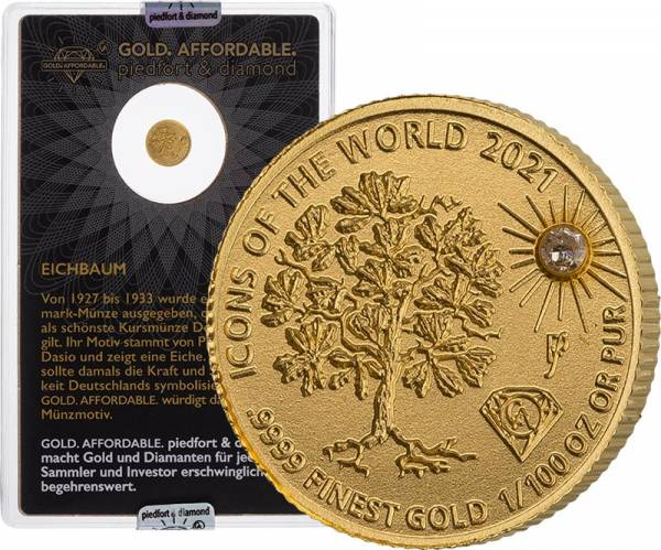 10 Francs Ruanda Gold Affordable Diamond Edition Eichbaum 2021