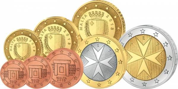 Euro-Kursmünzensatz Malta 2015 inkl. 2-Euro Gedenkmünze und Replik