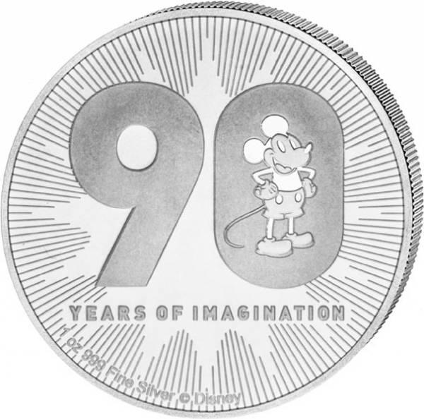 1 Unze Silber Niue 90 Jahre Mickey Maus 2018