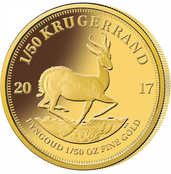 1/50 Unze Gold Südafrika 50 Jahre Krügerrand 2017