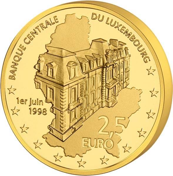 2,5 Euro Luxemburg 20 Jahre Zentralbank 2018