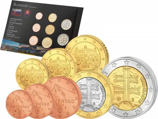 Premium-Euro-Kursmünzensatz Slowakei