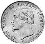 Taler Ernst 1848 Sehr schön