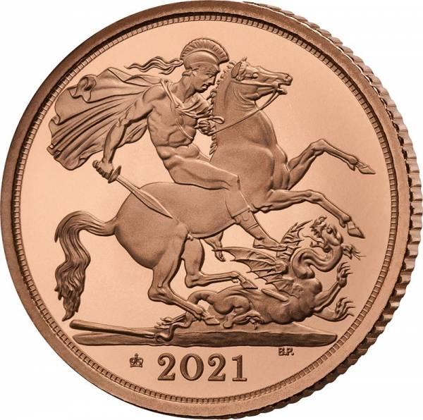 1/2 Sovereign Großbritannien Queen Elizabeth II. 2021