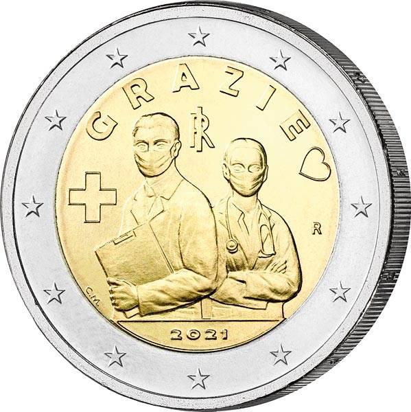 2 Euro Italien Berufe im Gesundheitswesen 2021