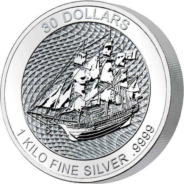 1 Kilo Silber Cook-Inseln Bounty 2020
