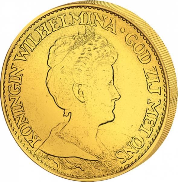 10 Gulden Niederlande Königin Wilhelmina 1911-1917 vz-st
