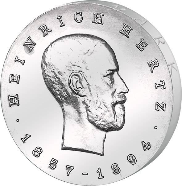 5 Mark  Heinrich Hertz 1969 A vorzüglich