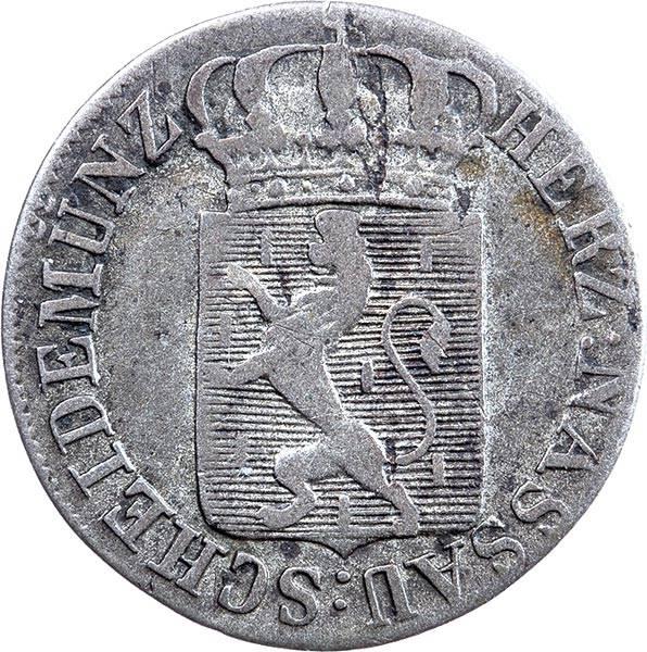 6 Kreuzer Nassau Herzog Wilhelm 1822-1828