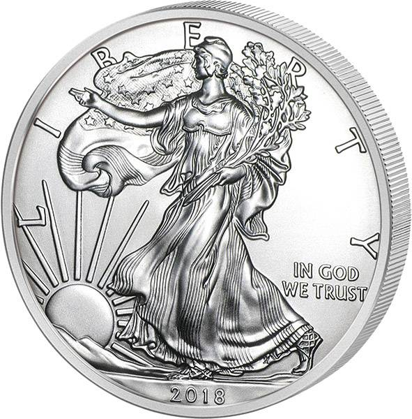 1 Unze Silber USA Eagle Liberty 2018