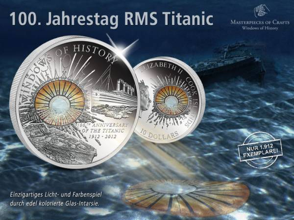 10 Dollars Cook-Insel 100 Jahre Titanic 2012 Prooflike