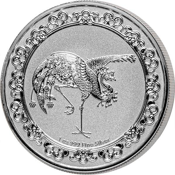 1 Unze Silber Niue Red Phönix 2020
