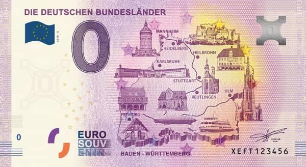 0-Euro-Banknote Baden-Württemberg 2020
