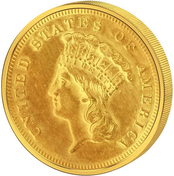 3 Dollar USA Liberty 1854 - 1889