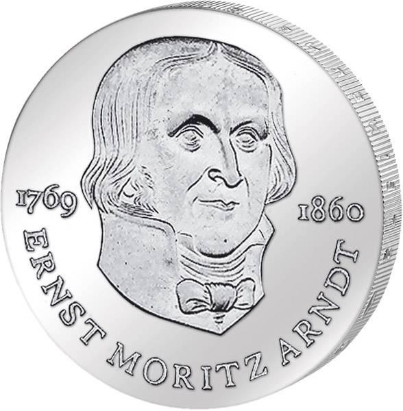 20 DDR-Mark Silber Ernst Moritz Arndt 1985 Stempelglanz