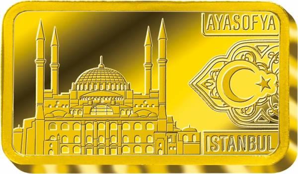0,5 Gramm Goldbarren Istanbul Hagia Sophia 2019