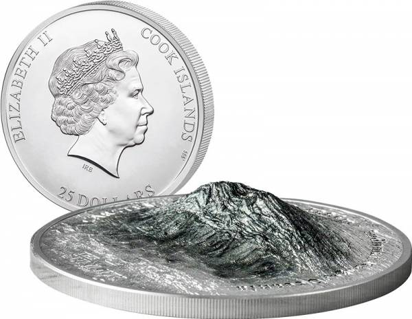 25 Dollars Cook-Inseln Carstensz Pyramide