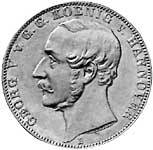 Taler Vereinstaler Georg V. 1857-1866  vorzüglich