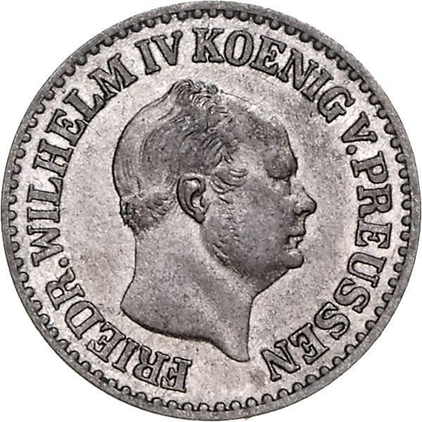 1 Silbergroschen Brandenburg-Preußen Friedrich Wilhelm IV.