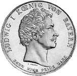 Geschichtstaler Ludwig I. Verfassungssäule 1828 vorzüglich