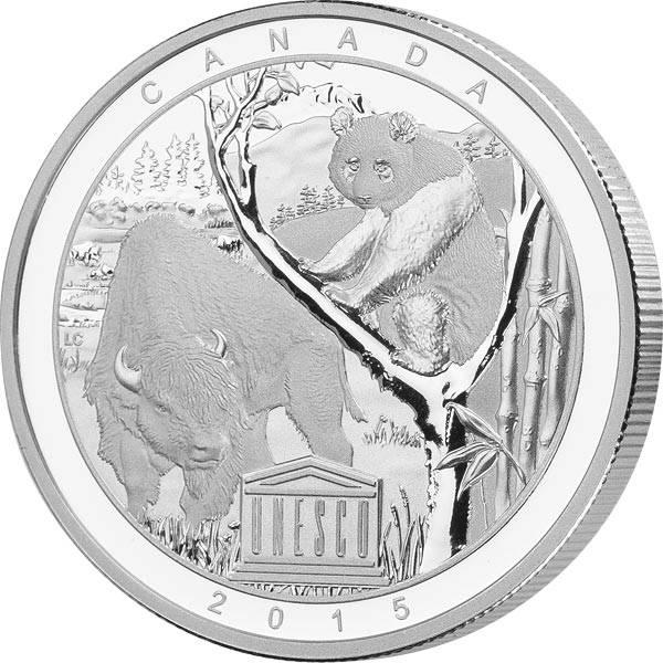 20 Dollars Kanada UNESCO Buffalo und Panda 2015