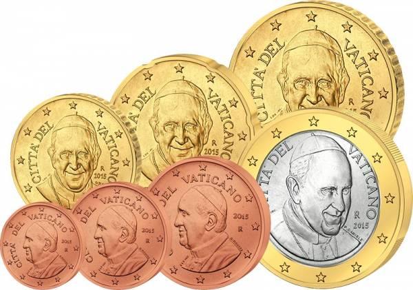 1 Cent - 1 Euro Kursmünzen Vatikan 2015