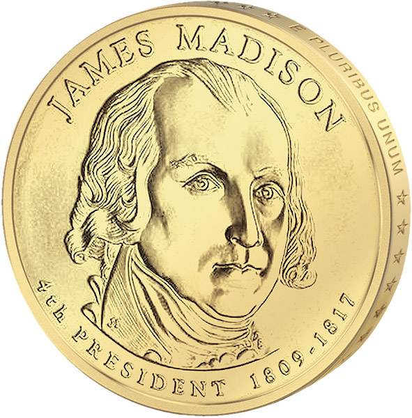 1 Dollar USA James Madison 2007 Stempelglanz