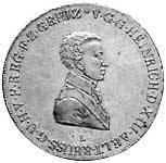 Konventionstaler Reuß-Obergreiz Heinrich XIII. 1812 ss-vz