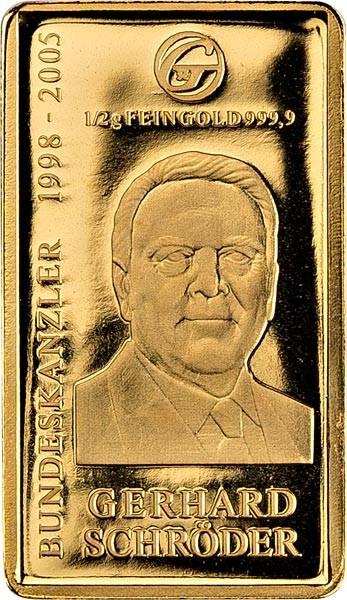 Goldbarren Gerhard Schröder
