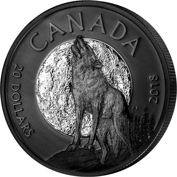 20 Dollars Kanada Nachttiere heulender Wolf 2018