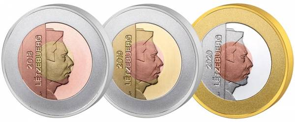 3 x 2,5 Euro Luxemburg UNESCO-Set 2018