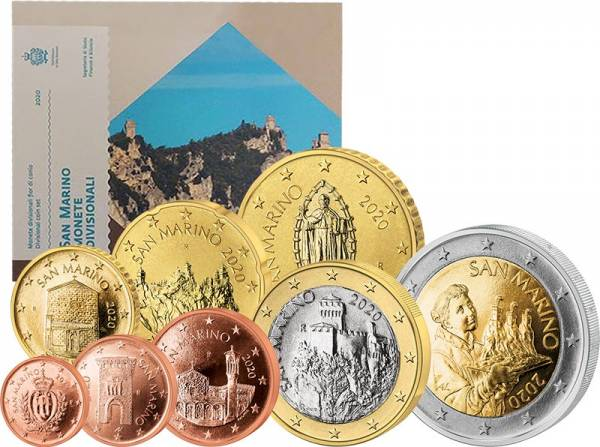 Euro-Kursmünzensatz San Marino 2020