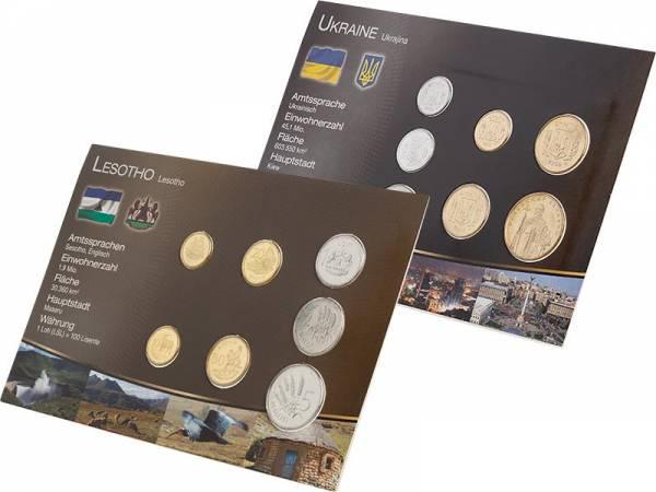 Premium-Kursmünzen-Set Lesotho und Ukraine