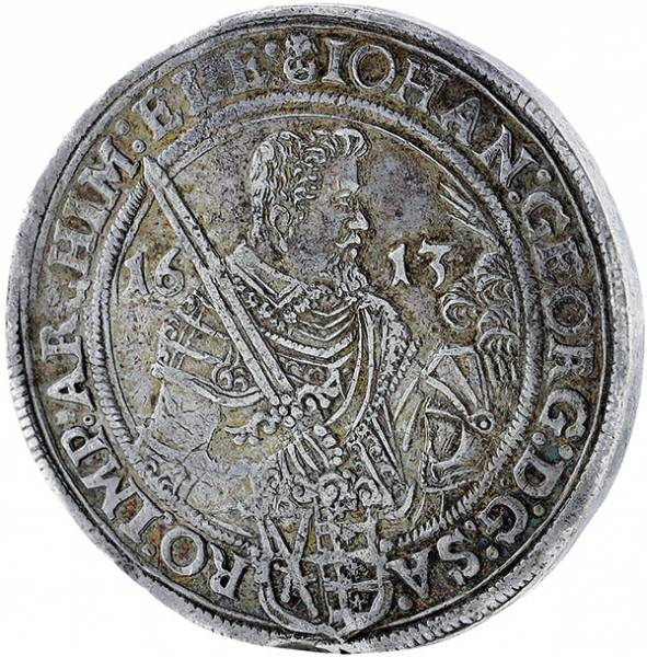 Taler Sachsen Johann Georg I. 1611-1616