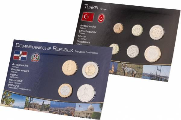 Premium-Kursmünzen-Set Türkei und Dominikanische Republik