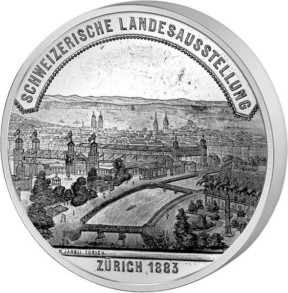 Zinn-Medaille Zürich Schweizerische Landesausstellung 1883