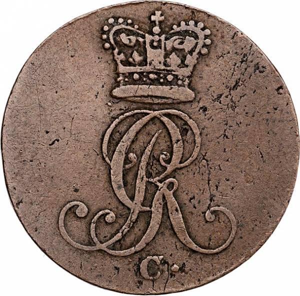 1 Pfennig Hannover König Georg III. 1814-1820