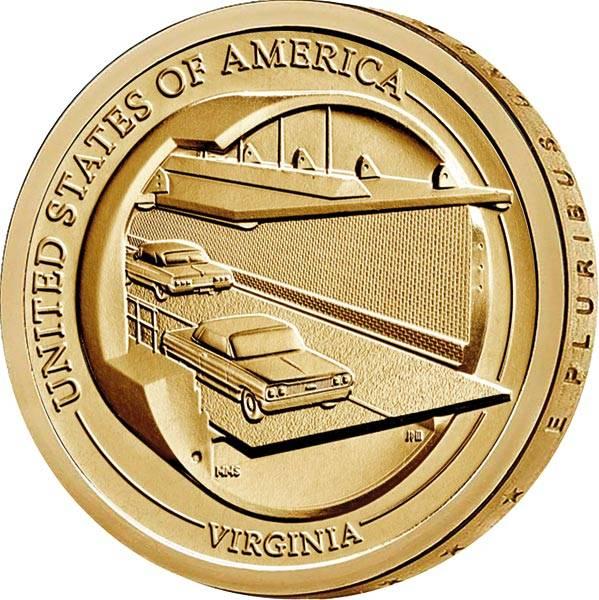 1 Dollar USA American Innovation - Chesapeake Bay Bridge-Tunnel 2021