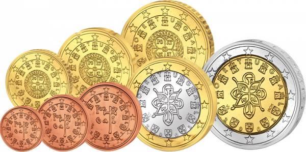 1 Cent-2 Euro  Portugal J.u.W prägefrisch
